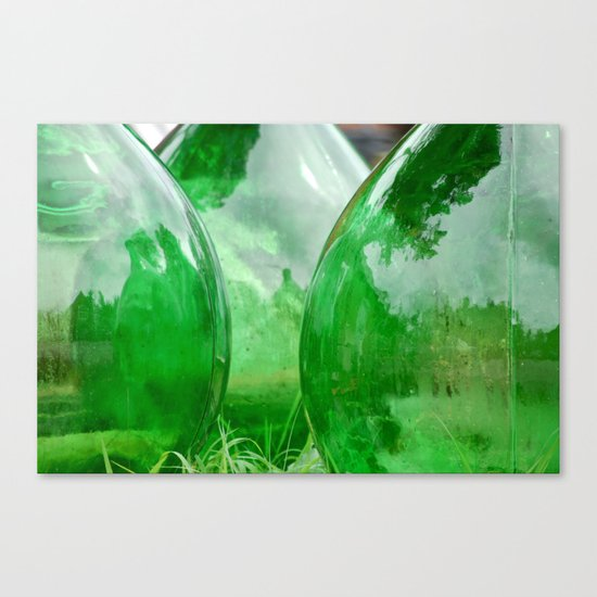 Green glass Canvas Print