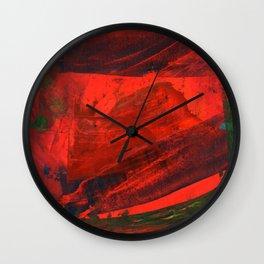 Strokes on Board Right Wall Clock