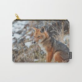 Fox in the snow v02. Carry-All Pouch