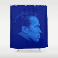 arnold Shower Curtains featuring Arnold Schwarzenegger by Vector Vectoria