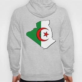 Algeria Map with Algerian Flag Hoody