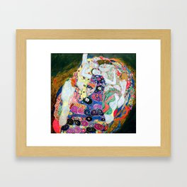 Gustav Klimt - The Maiden - The Virgin - Die Jungfrau - Vienna Secession Painting Framed Art Print