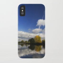 Autumn on the River Thames iPhone Case