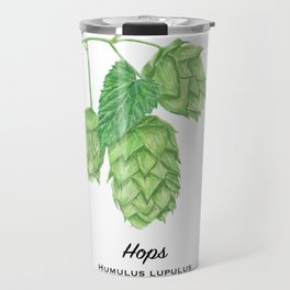 Beer Hops Botanical Painting Travel Mug