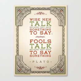 Plato regarding talking Canvas Print