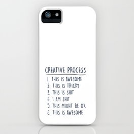 Creative Process iPhone Case