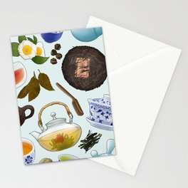 Asian Tea Shop Pattern Stationery Cards