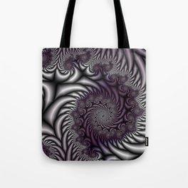 Purple and Gray Tote Bag