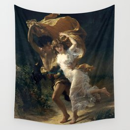 The Storm By Pierre Auguste Cot Wall Tapestry