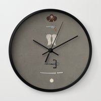 the walking dead Wall Clocks featuring the Walking Dead by avoid peril