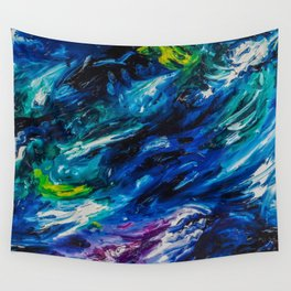 Electric Blues Wall Tapestry