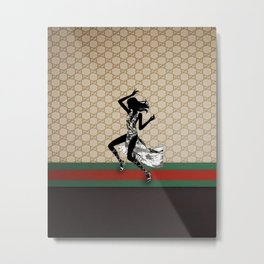 Guci Pattern dance Metal Print