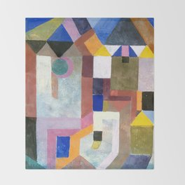 COLORFUL ARCHITECTURE, by Paul Klee Throw Blanket