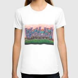 Waterfront Apartments Architectural Illustration 57 T-shirt