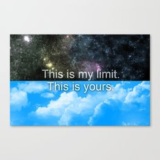 Know Your Limits Canvas Print