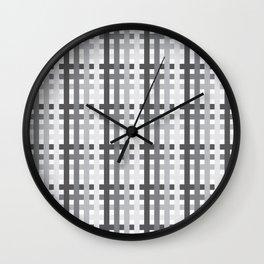 Gray Squares Wall Clock