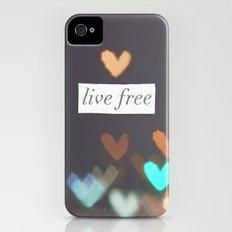 Live Free  iPhone (4, 4s) Slim Case