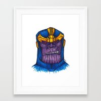 thanos Framed Art Prints featuring Thanos by AgrovatedArt