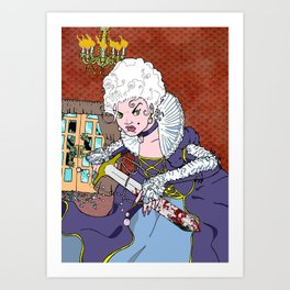 Jeannette-Marie, Zombie Slayer of Marseille Art Print
