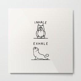 Inhale Exhale American Bully Metal Print
