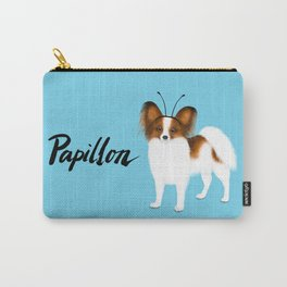 Papillon (Blue) Carry-All Pouch