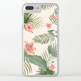 Abstract Flower Bouquet Clear iPhone Case