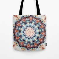 kaleidoscope Tote Bags featuring kaleidoscope  by North 10 Creations
