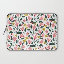 Pink Floral Pattern Laptop Sleeve