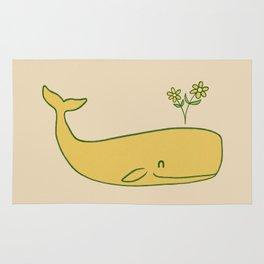 Peace Whale - colour option Rug