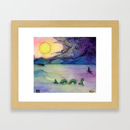 A Lake Monster Morning Framed Art Print