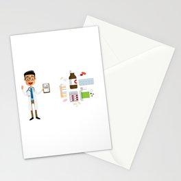 Doctor Prescribing A Medicine Stationery Cards