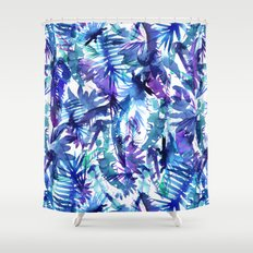 Vibe of the JUNGLE  {B-Blue} Shower Curtain