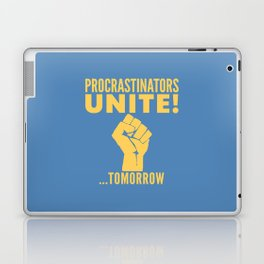 Procrastinators Unite Tomorrow (Blue) Laptop & iPad Skin