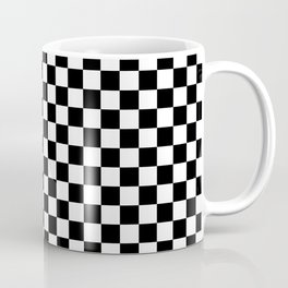 Classic Black and White Race Check Checkered Geometric Win Coffee Mug