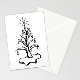 Holiday Line Tree Stationery Cards