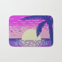 Pixel Sunset Bath Mat