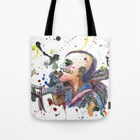 tank girl Tote Bags featuring Tank Girl by Abominable Ink by Fazooli
