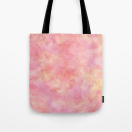Blush Pink & Peach Marble Watercolor Texture Tote Bag