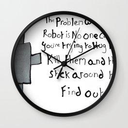 Robot Problems Wall Clock