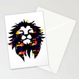 Abstract African Lion Stationery Cards