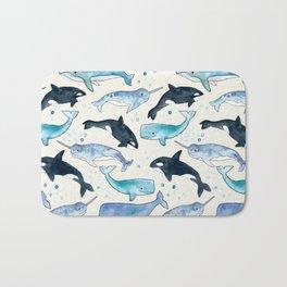 Whales, Orcas & Narwhals Bath Mat