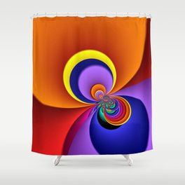 time for fractals -5- curtain Shower Curtain