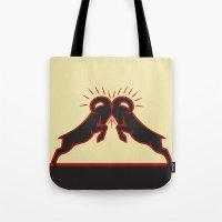 hydra Tote Bags featuring Whiz Hydra Fluid by ephemera as ART