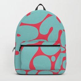 teal & red blobs Backpack