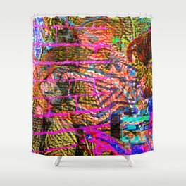 Gimme Distortion Shower Curtain