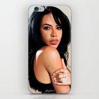 aaliyah iPhone & iPod Skins featuring Aaliyah #2 by Aaron Jason