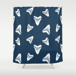Sharks Tooth Pattern Shower Curtain