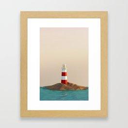 calm lighthouse Framed Art Print
