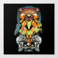 samus Canvas Prints featuring Samus by Brandon C. Bader