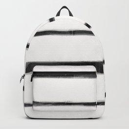 Skinny Strokes Gapped Horizontal Black on Off White Backpack